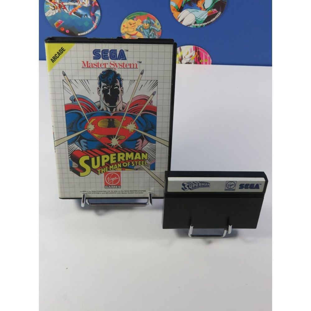 SUPERMAN THE MAN OF STEEL SEGA MASTER SYSTEM PAL-EURO (SANS NOTICE - GOOD CONDITION)