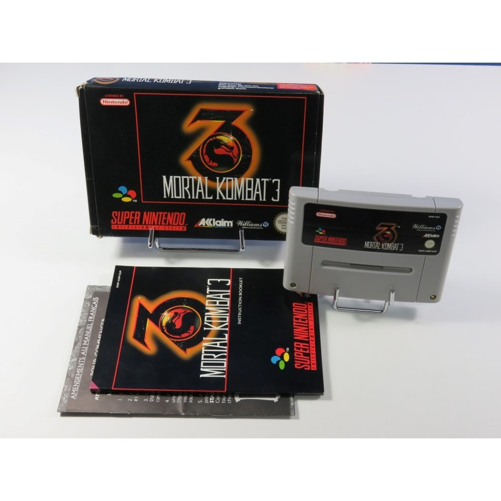 MORTAL KOMBAT 3 SUPER NINTENDO (SNES) PAL-EUR (COMPLET - VERY GOOD CONDITION)