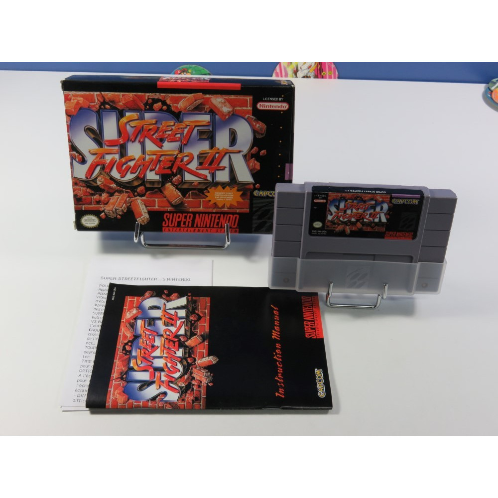 SUPER STREET FIGHTER II SUPER NINTENDO (SNES) NTSC-USA (COMPLET - VERY GOOD CONDITION) (WITH FR IMPORT MANUAL)