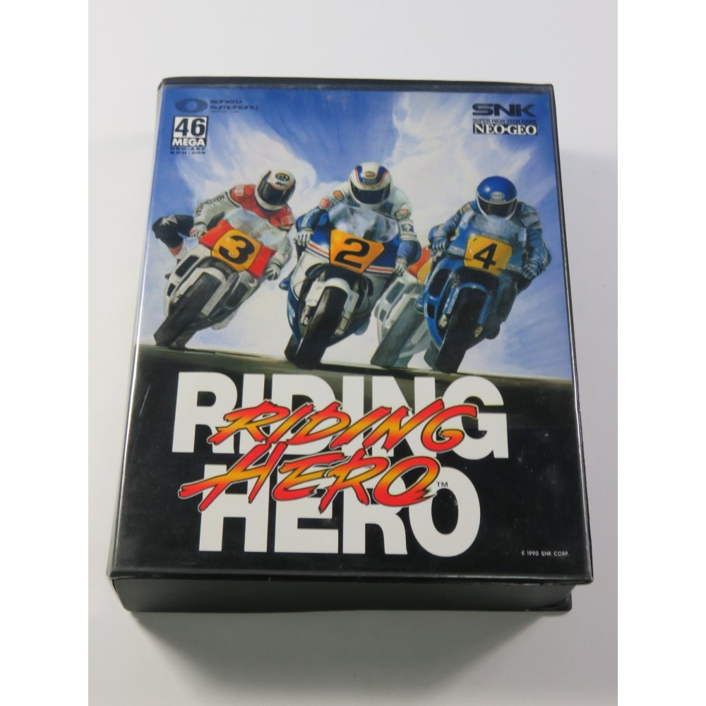 RIDING HERO SNK NEO GEO AES USA (COMPLET - VERY GOOD CONDITION)