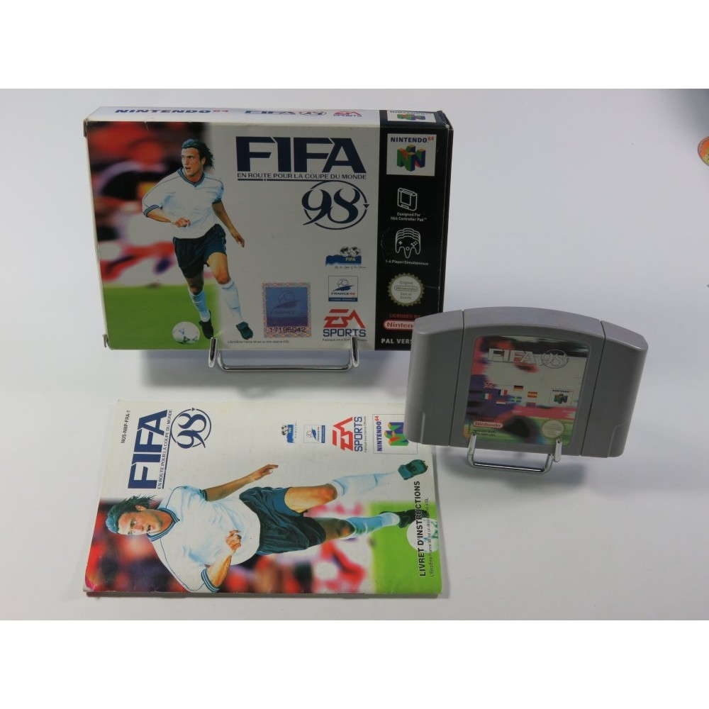 FIFA - EN ROUTE POUR LA COUPE DU MONDE NINTENDO 64 (N64) PAL-FRA (COMPLET - GOOD CONDITION)