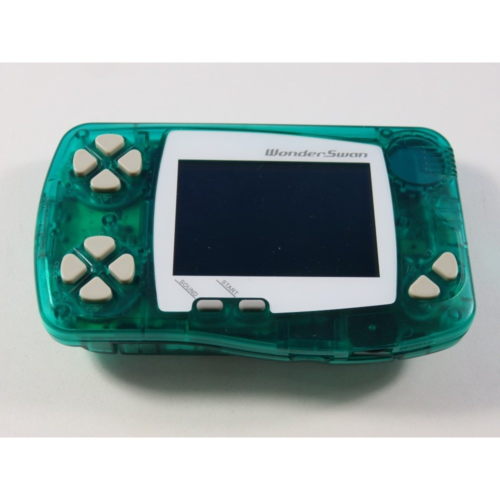 CONSOLE BANDAI WONDER SWAN GREEN JPN (FRONT LIGHT) (LOOSE - GOOD CONDITION) (SERIAL 2900160483)