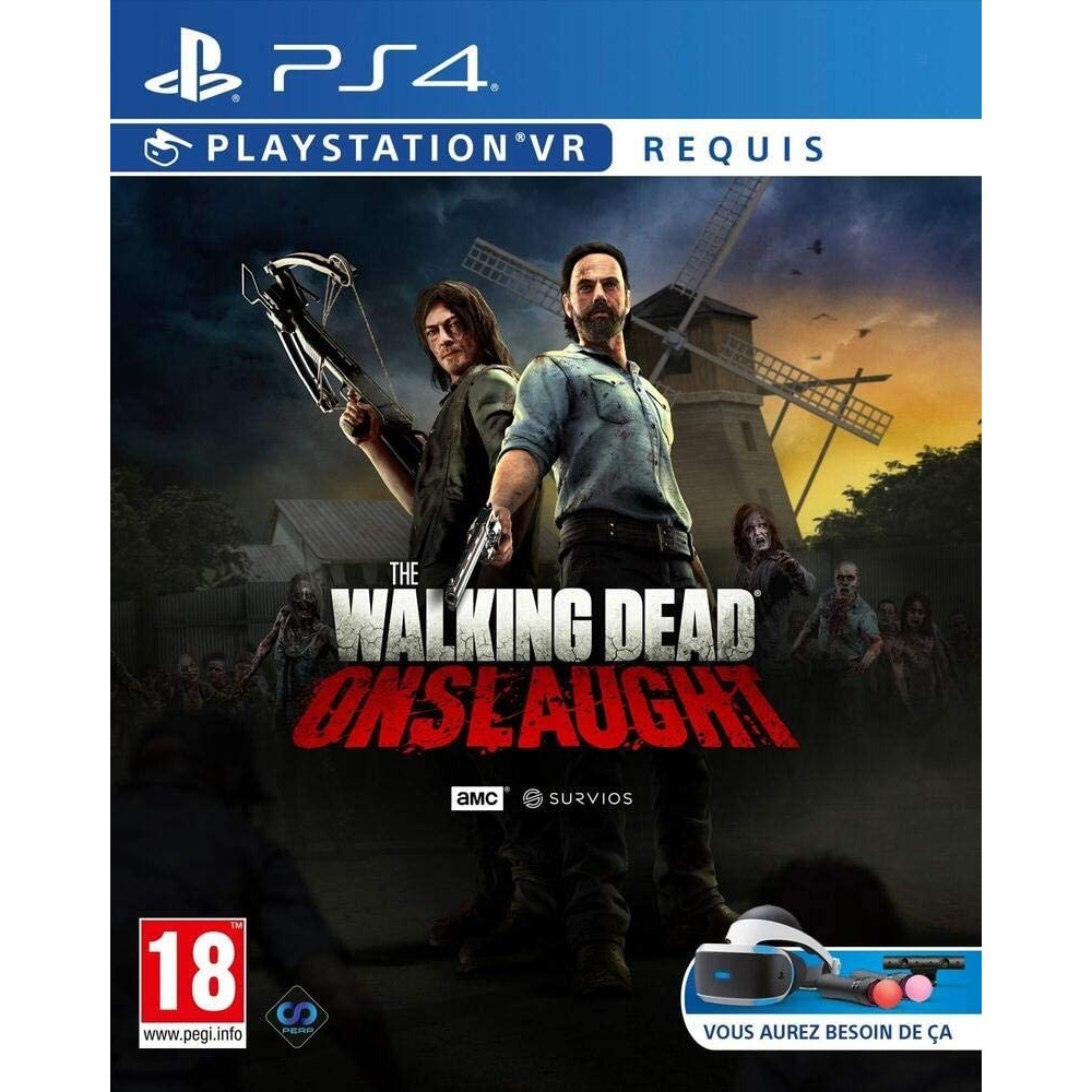 THE WALKING DEAD ONSLAUGHT STANDARD EDITION PSVR PS4 FR NEW