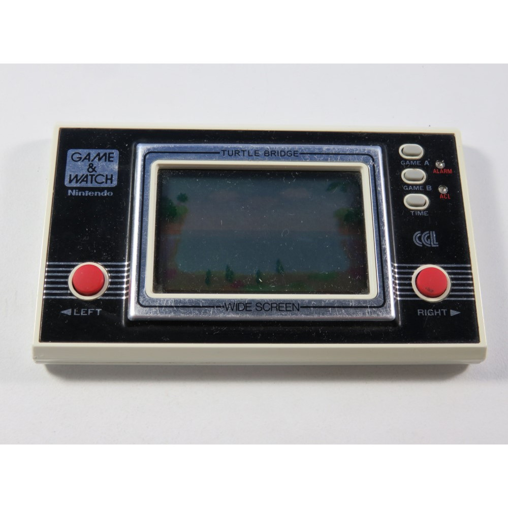 GAME & WATCH NINTENDO TURTLE BRIDGE MODEL NO: TL-26 (LOOSE - GOOD CONDITION)