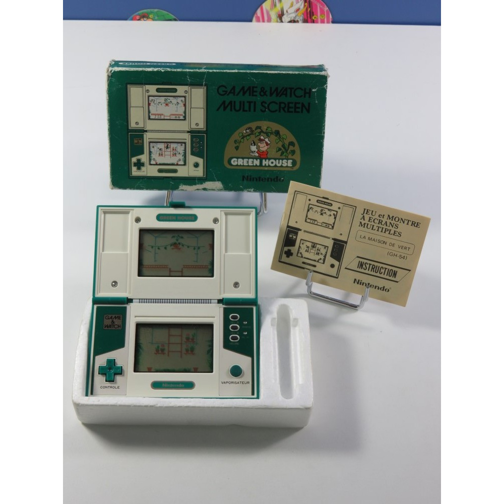 GAME & WATCH NINTENDO MULTI SCREEN GREEN HOUSE MODEL NO: GH-54 (COMPLET - GOOD CONDITION) (SERIAL 38109337)