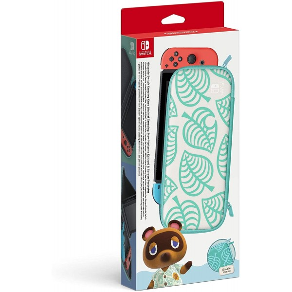 CARRY CASE +SCREEN PROTECTOR ANIMAL CROSSING SWITCH EURO NEW