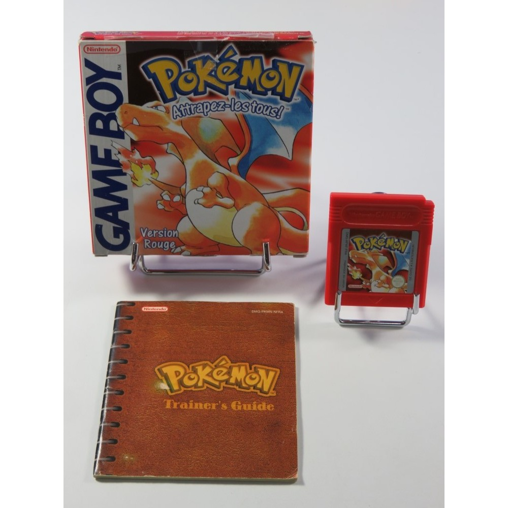 POKEMON (POCKET MONSTERS) VERSION ROUGE NINTENDO GAMEBOY (GB) FRA (COMPLET - GOOD CONDITION)