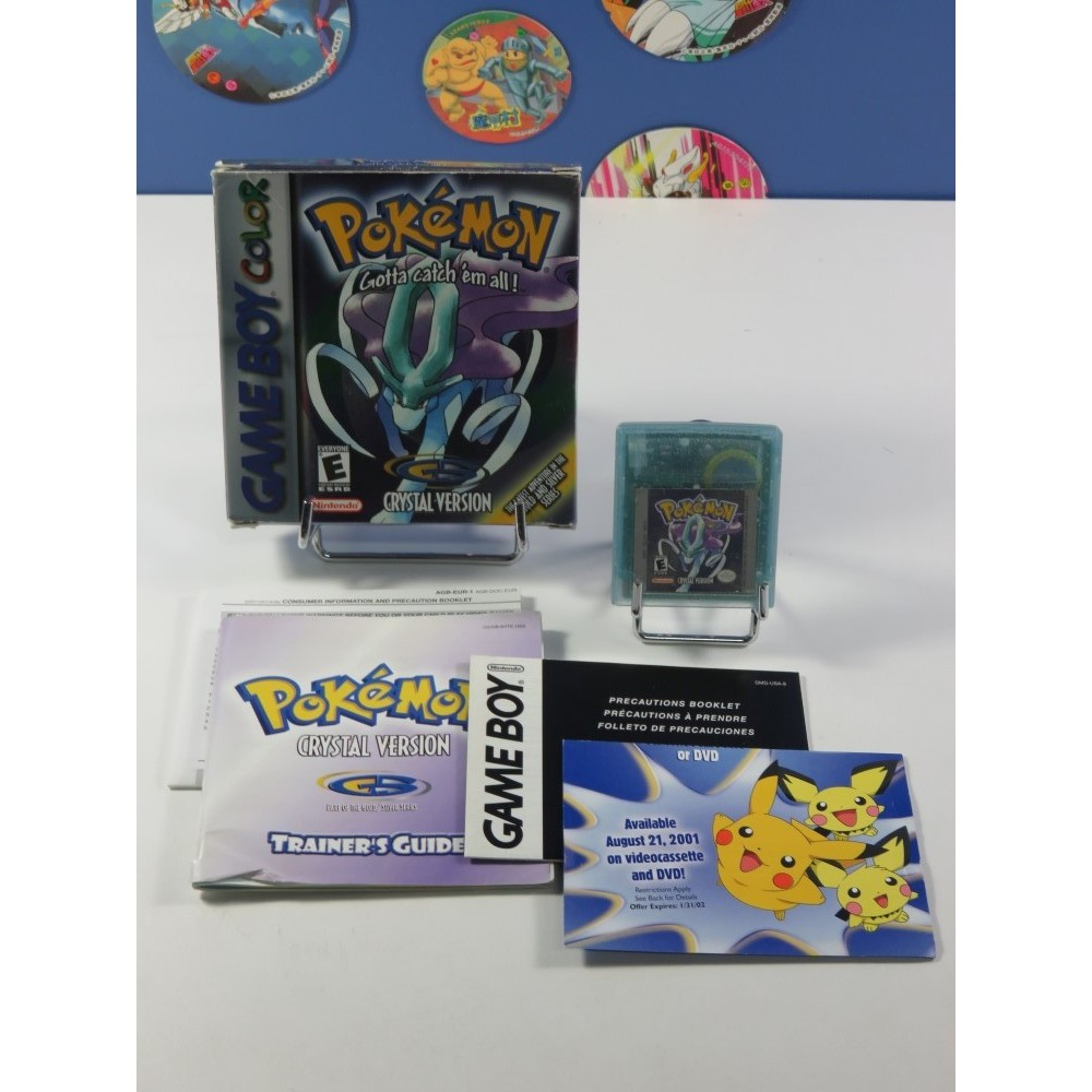 POKEMON (POCKET MONSTERS) CRYSTAL VERSION NINTENDO GAMEBOY COLOR (GBC) USA (COMPLET - GOOD CONDITION)