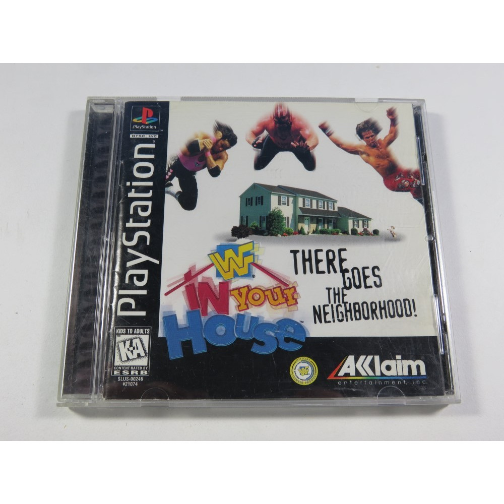 W IN YOUR HOUSE THERE GOES THE NEIGHBORHOOD SONY PLAYSTATION 1 (PS1) NTSC-USA (COMPLET - GOOD CONDITION)