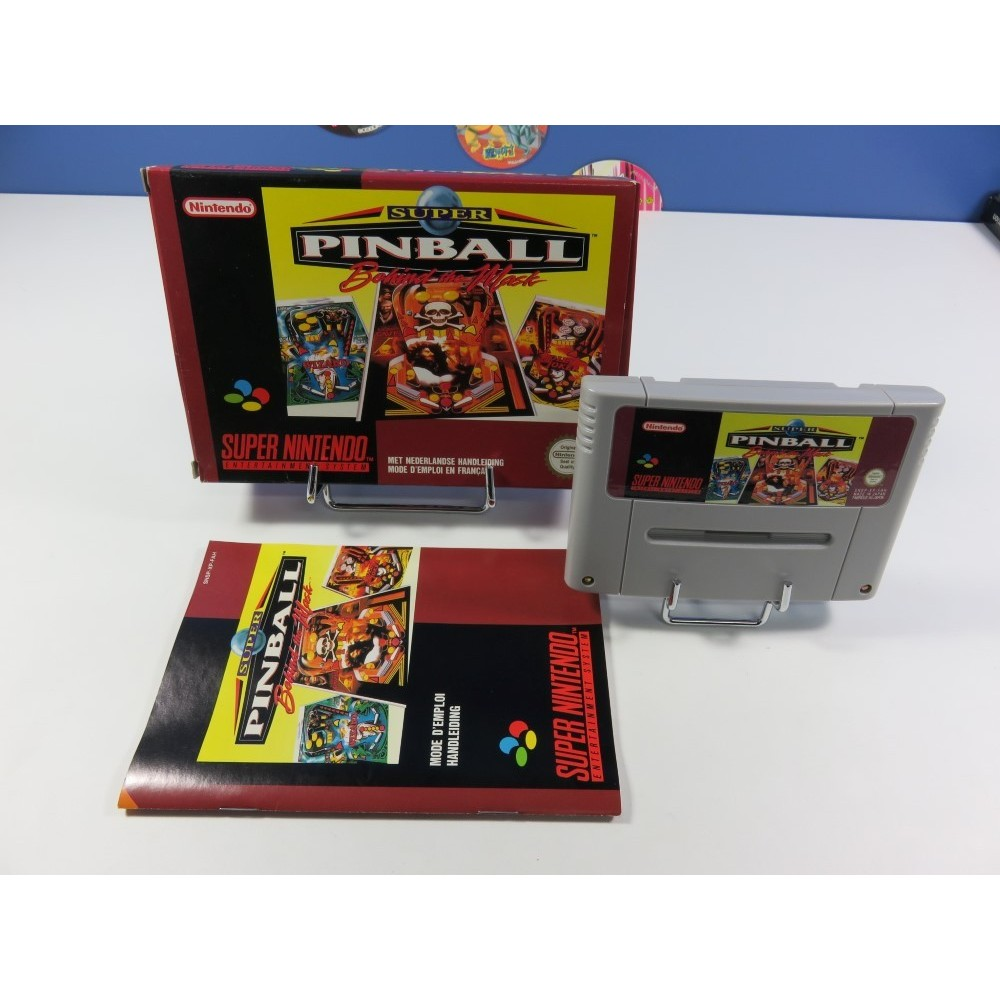 SUPER PINBALL - BEHIND THE MASK SUPER NINTENDO (SNES) PAL-FAH (COMPLET - VERY GOOD CONDITION OVERALL)