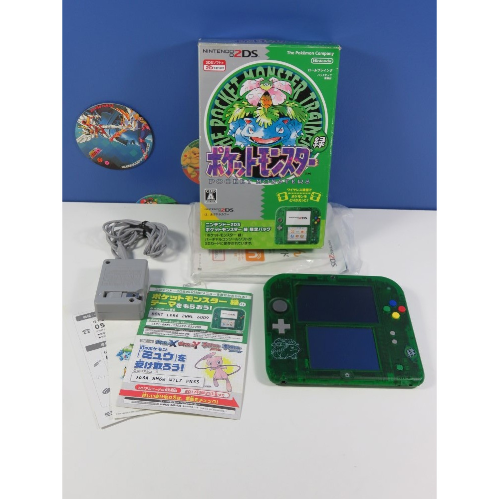 CONSOLE 2DS POCKET MONSTERS (POKEMON) GREEN LIMITED PACK NTSC-JPN (COMPLET - GOOD CONDITION)(SER:AJM100872248)