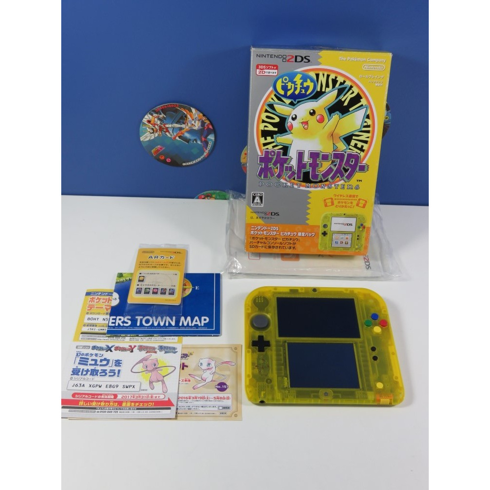 CONSOLE 2DS POCKET MONSTERS (POKEMON) PIKACHU LIMITED PACK NTSC-JPN (COMPLET - GOOD CONDITION)(SER:AJM100462982)