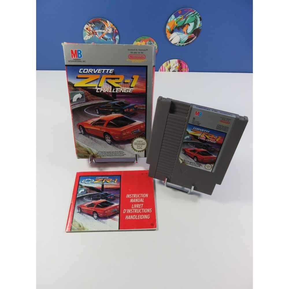 CORVETTE ZR-1 CHALLENGE NINTENDO (NES) PAL-B-FRA (COMPLET - GOOD CONDITION OVERALL)