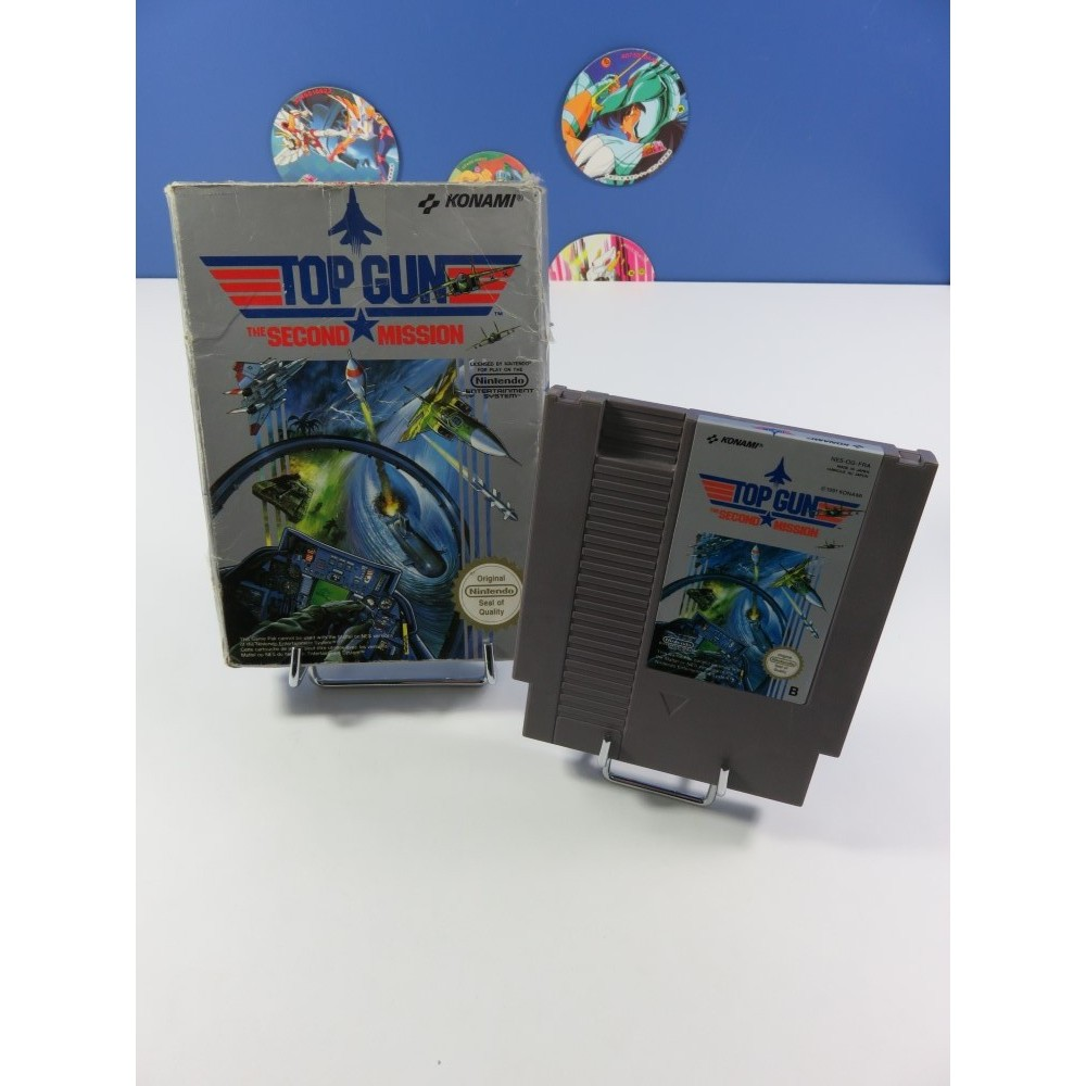 TOP GUN - THE SECOND MISSION NINTENDO (NES) PAL-B-FRA (SANS NOTICE - GOOD CONDITION OVERALL)