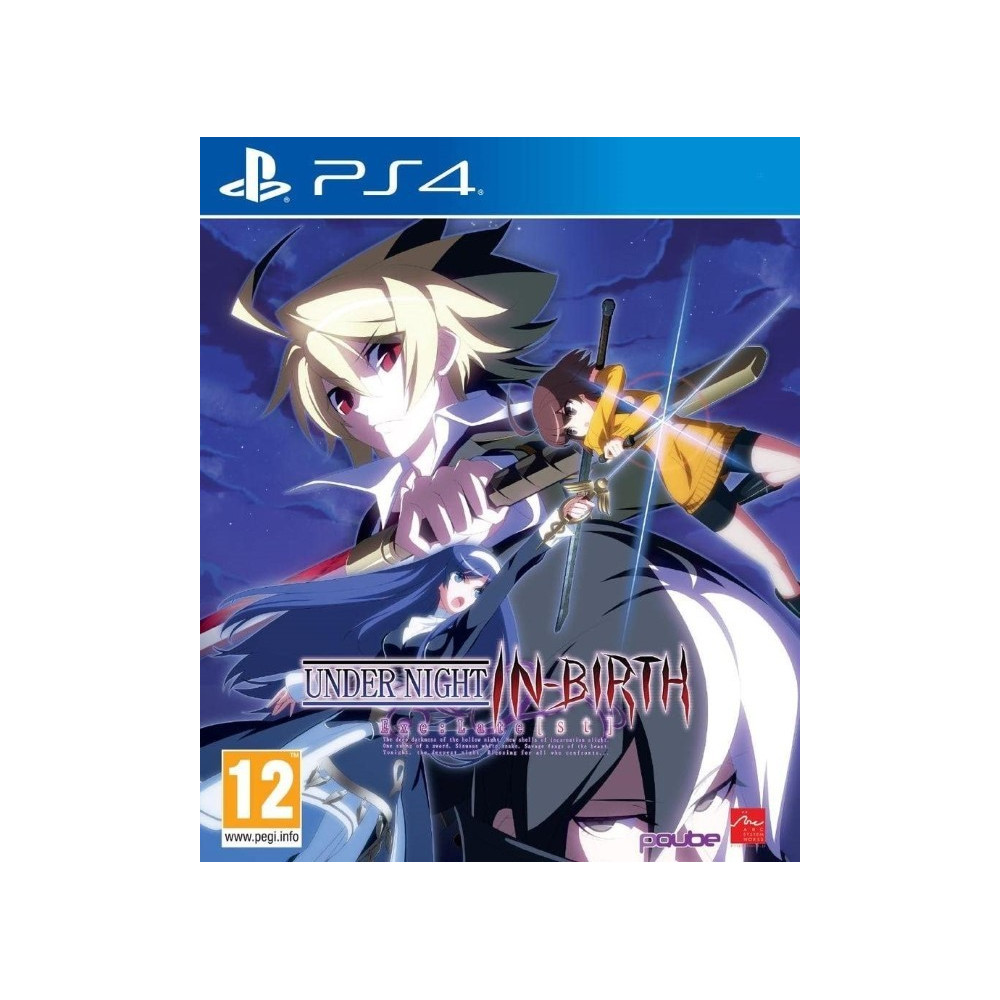 UNDER NIGHT IN-BIRTH EXE LATE ST LIMITED EDITION PS4 EURO FR NEW