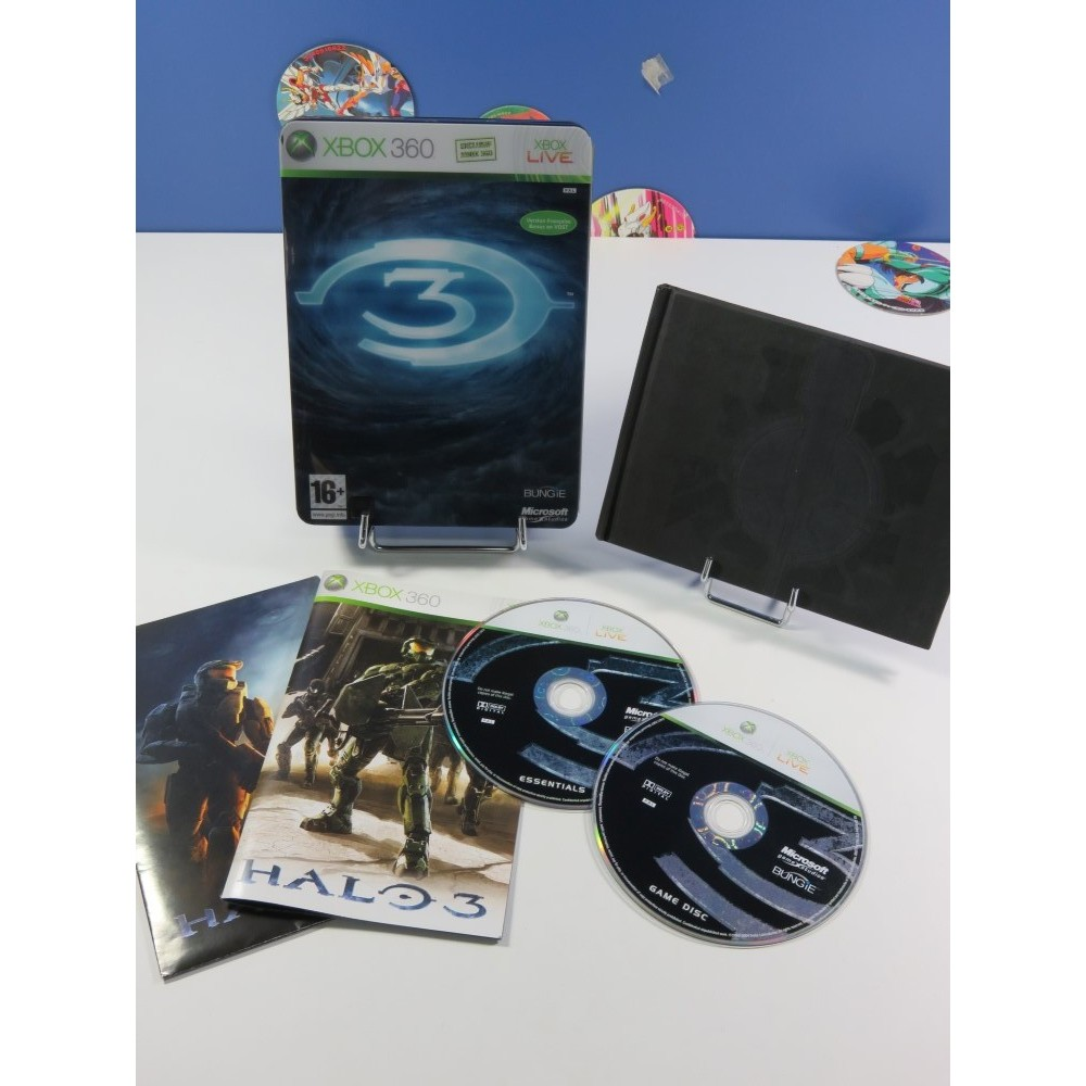 HALO 3 EDITION LIMITEE MICROSOFT XBOX 360 PAL-FR (COMPLET - GOOD CONDITION) (STEELBOOK + ARTBOOK)
