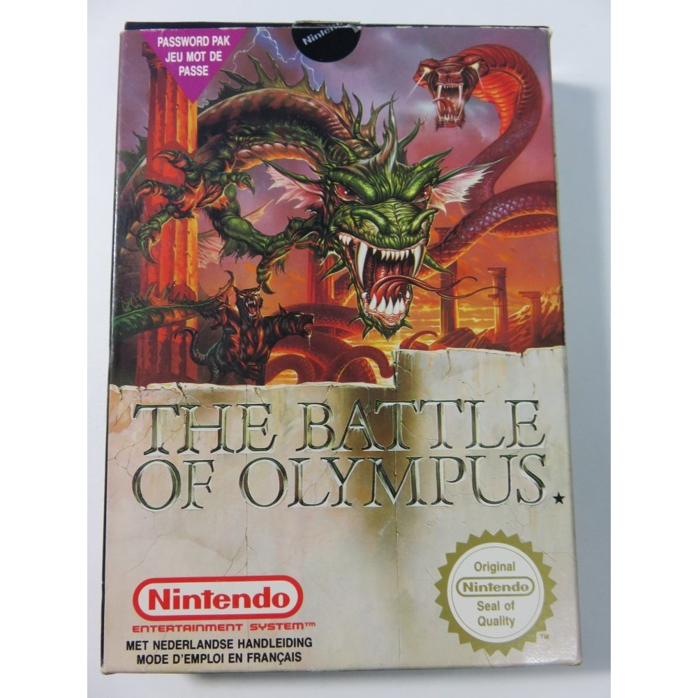 THE BATTLE OF OLYMPUS NES PAL-FAH (COMPLETE-DOUBLE NOTICE-VERY GOOD CONDITION) IMAGINEER RPG 1991