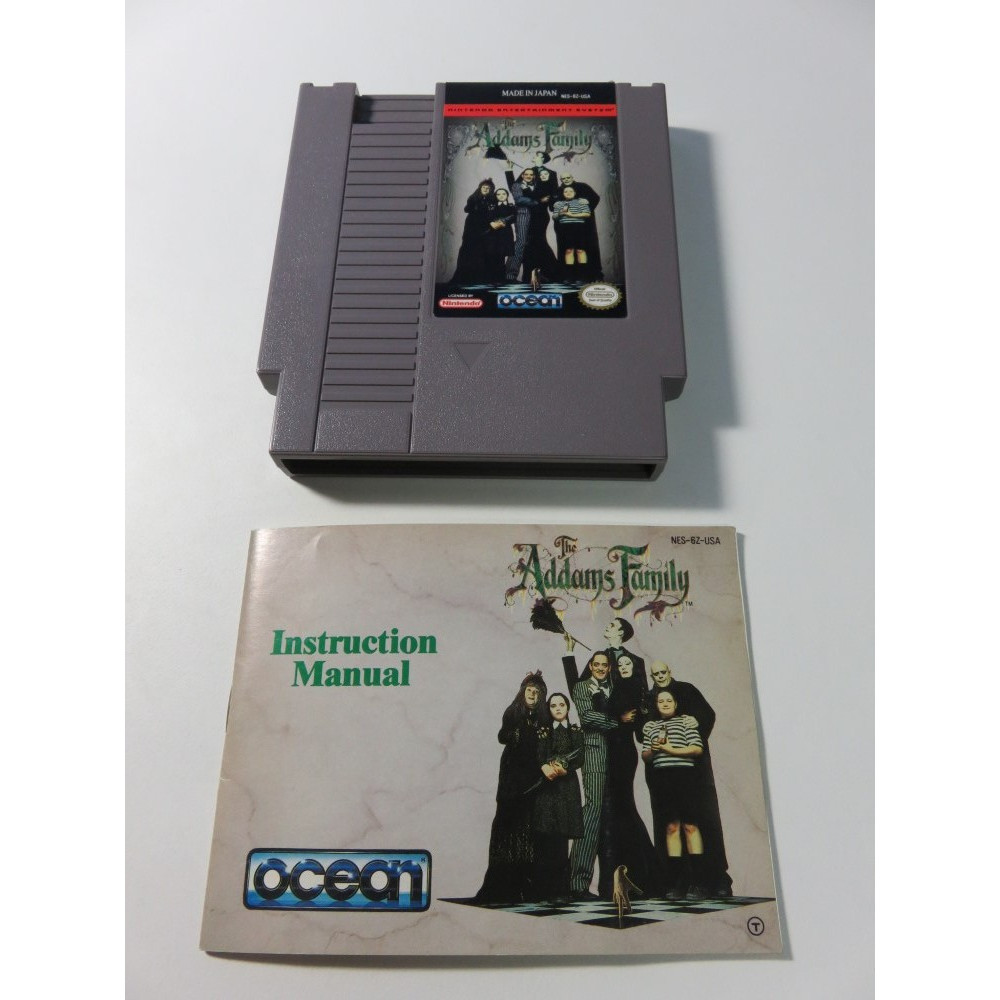 THE ADDAMS FAMILY NES NTSC-USA LOOSE + NOTICE