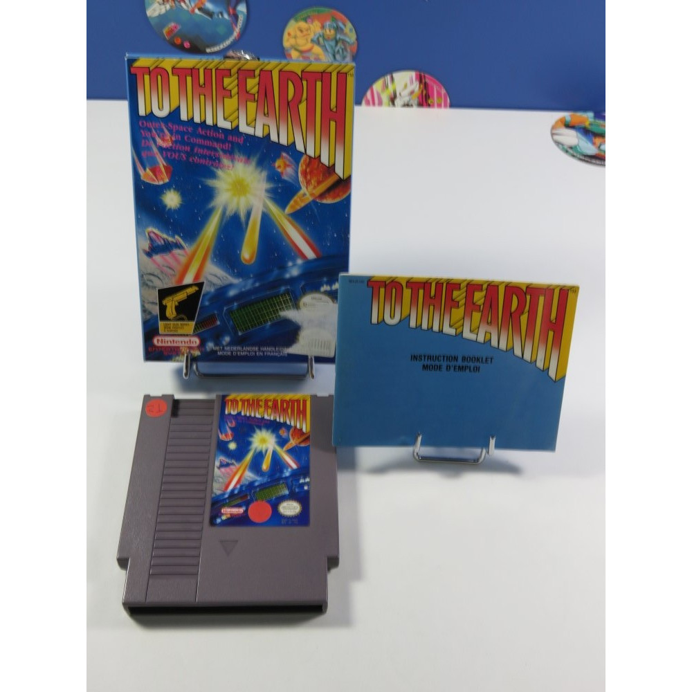 TO THE EARTH NINTENDO (NES) PAL-B FAH (COMPLET - GOOD CONDITION OVERALL)(PISTOLET ZAPPER COMPATIBLE)