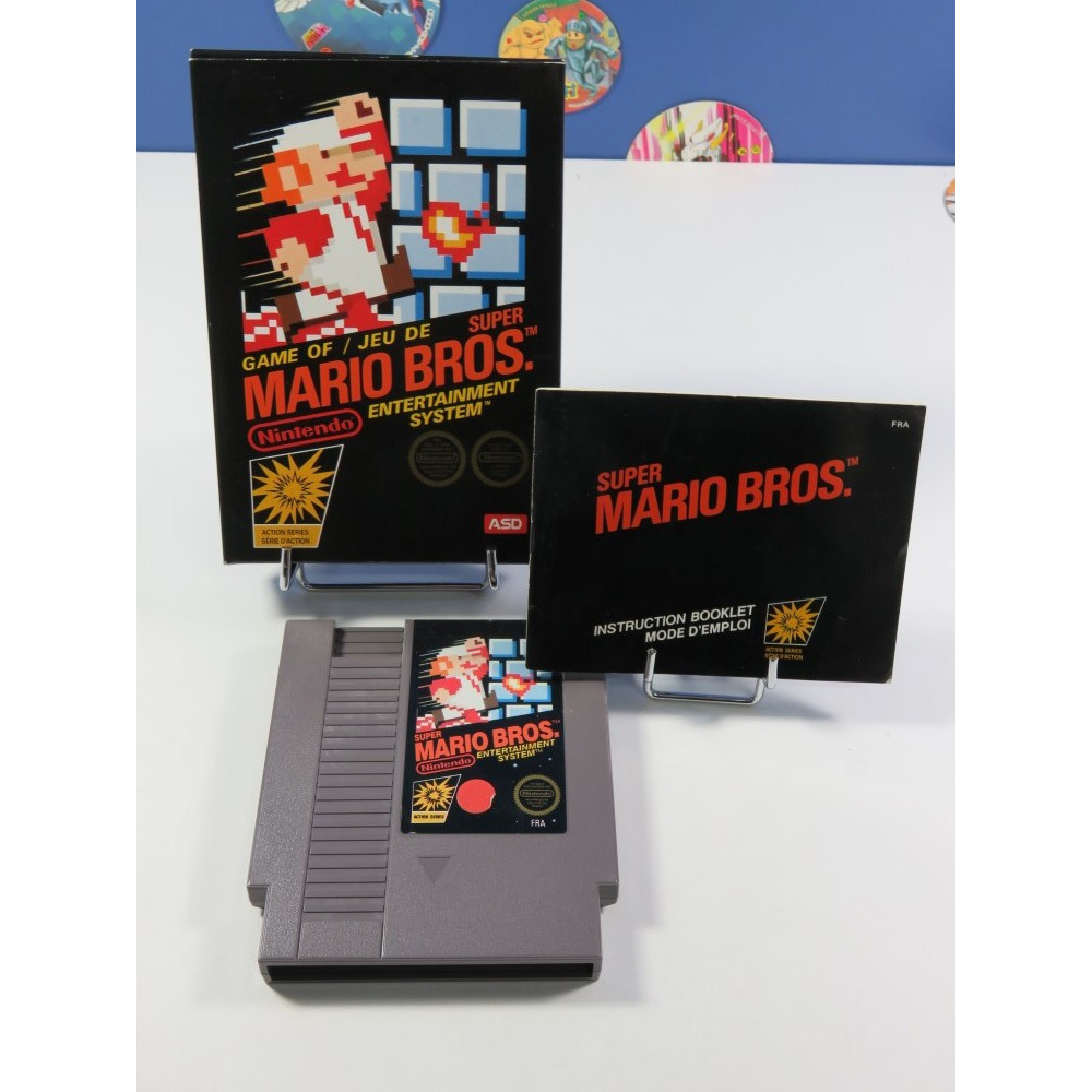 SUPER MARIO BROS NINTENDO NES PAL-B FRA (COMPLET - GOOD CONDITION OVERALL) (FIRST PRINT ASD VERSION)