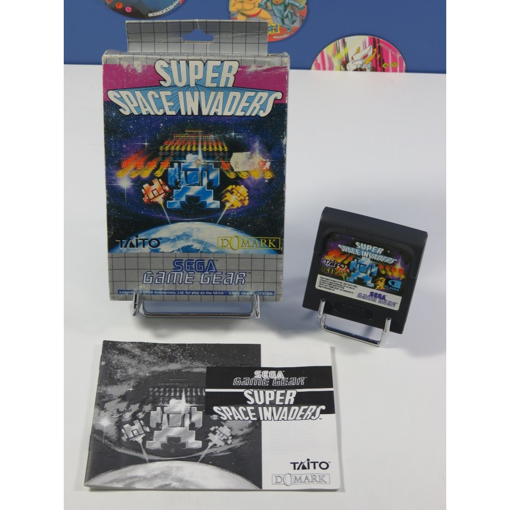 SUPER SPACE INVADERS SEGA GAME GEAR EURO (COMPLET - GOOD CONDITION OVERALL)