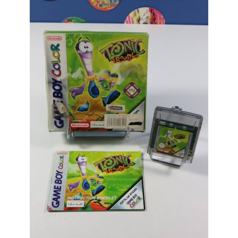 TONIC TROUBLE NINTENDO GAME BOY COLOR (GBC) EUR (COMPLET - GOOD CONDITION OVERALL)
