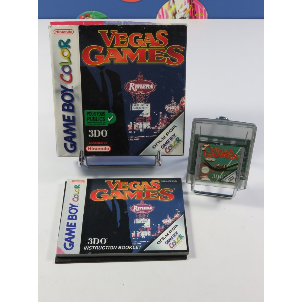 VEGAS GAMES GAMEBOY COLOR EUR (COMPLET - VERY GOOD CONDITION OVERALL)
