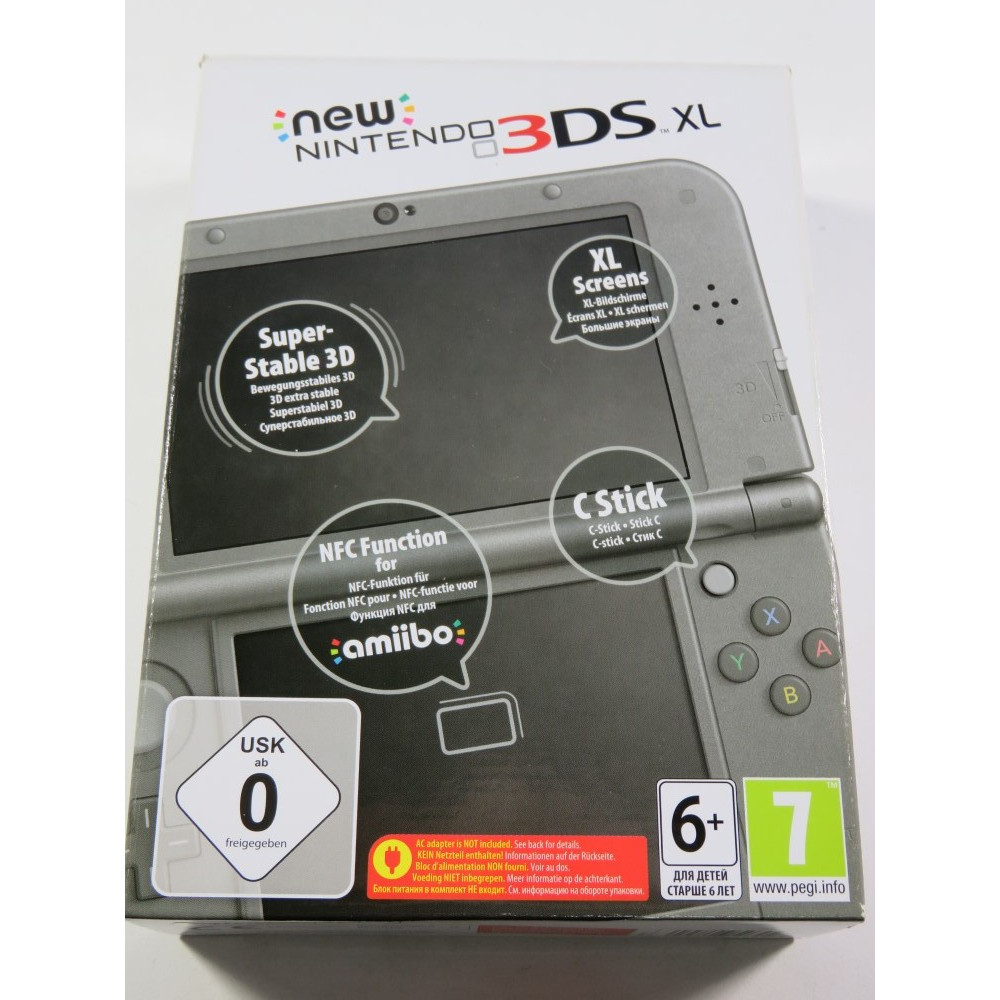 CONSOLE NINTENDO 3DS XL METALLIC BLACK (3DS) PAL-EURO (COMPLET - LIKE NEW)(SERIAL: QEH103005346)