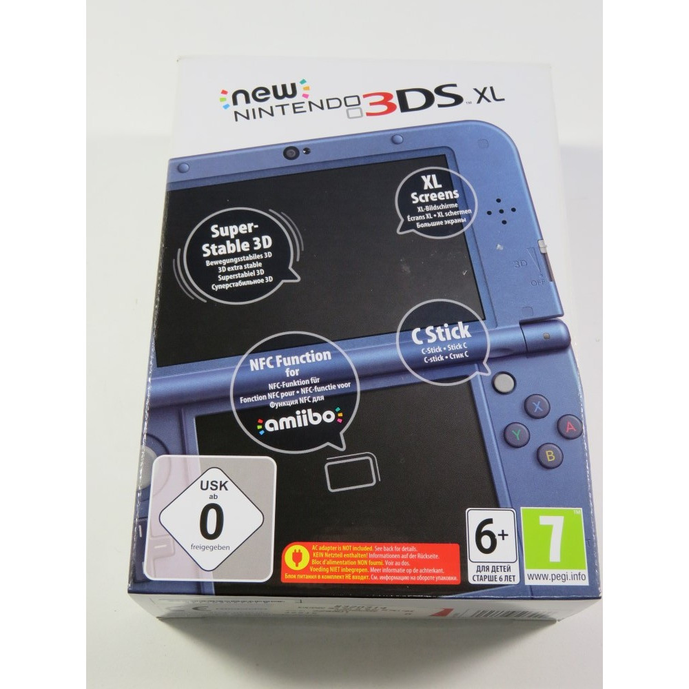 CONSOLE NINTENDO 3DS XL METALLIC BLUE (3DS) PAL-EURO (COMPLET - LIKE NEW)(SERIAL: QEF103047018)