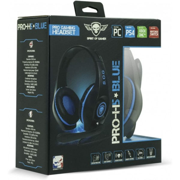 CASQUE PRO H5 BLUE SPIRIT OF GAMER PS4 XBOX ONE SWITCH PC EURO NEW