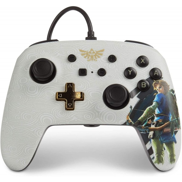 CONTROLLER FILAIRE THE LEGEND OF ZELDA BREATH OF THE WILD POWER A SWITCH EURO NEW