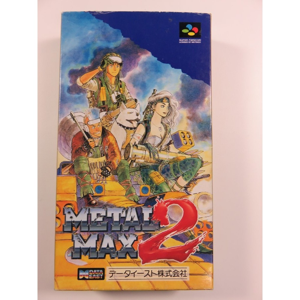 METAL MAX 2 SUPER FAMICOM NTSC-JPN OCCASION (COMPLETE WITH REG CARD - VERY GOOD CONDITION) DATA EAST TACTICAL 1993