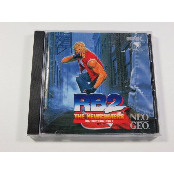 REAL BOUT FATAL FURY 2 (GAROU DENSETSU) SNK NEO GEO CD NTSC-USA (COMPLET - PHOTOCOPY OF THE BACK COVER)