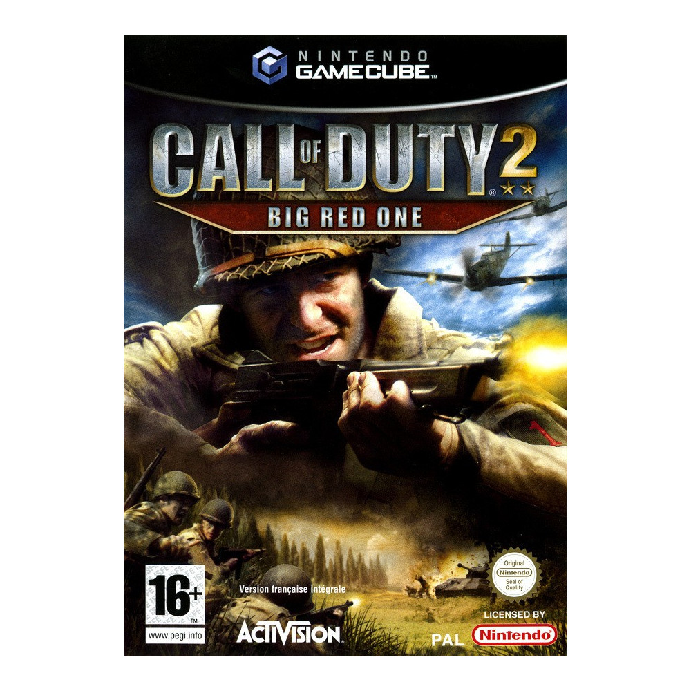 CALL OF DUTY 2 : BIG RED ONE GAMECUBE PAL-FR OCCASION