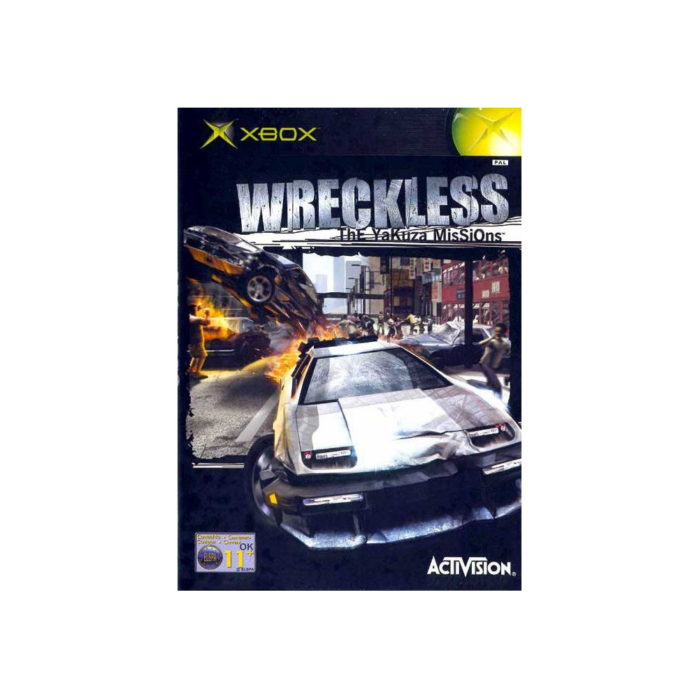 WRECKLESS MISSION YAKUSAS  XBOX PAL-FR OCCASION