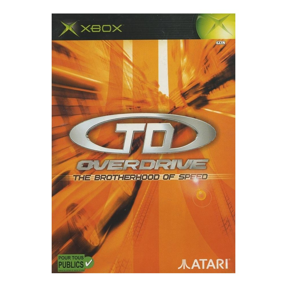 TD OVERDRIVE - THE BROTHERHOOD OF SPEED XBOX PAL-FR OCCASION