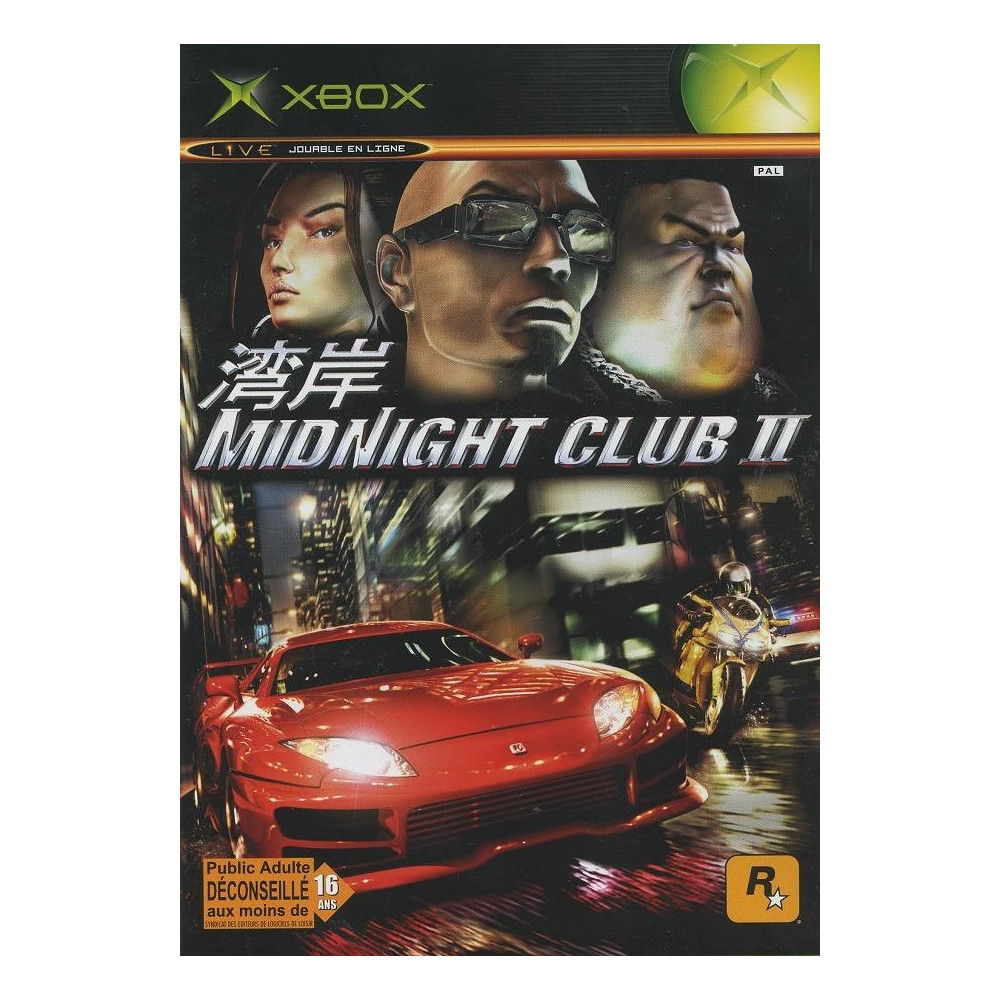 MIDNIGHT CLUB 2 XBOX PAL-FR OCCASION (SANS NOTICE)