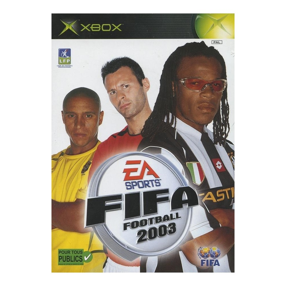 FIFA FOOTBALL 2003 SANS NOTICE XBOX PAL-FR OCCASION OCC