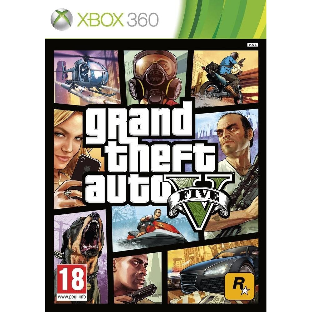 GRAND THEFT AUTO V GTA XBOX 360 PAL-FR OCCASION