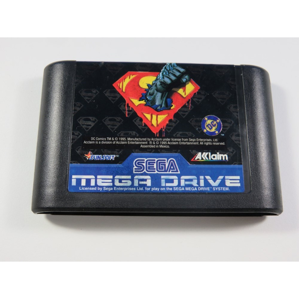 THE DEATH AND RETURN OF SUPERMAN SEGA MEGADRIVE PAL-EURO (LOOSE - VERY GOOD CONDITION)