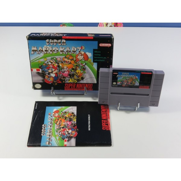 SUPER MARIO KART SUPER NINTENDO (SNES) NTSC-USA (COMPLET - GOOD CONDITION)