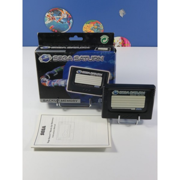 BACKUP MEMORY - CARTE MEMOIRE OFFICIELLE SEGA SATURN EURO (COMPLET - VERY GOOD CONDITION)