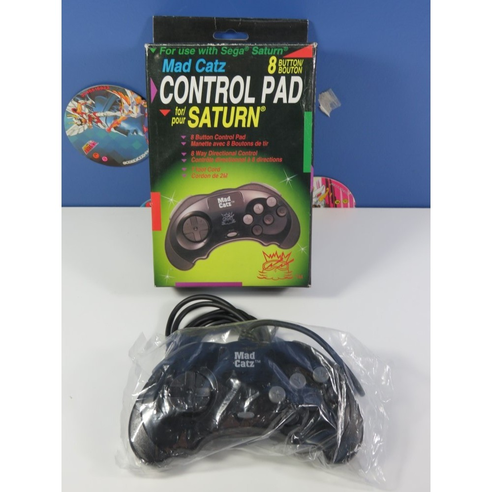 CONTROLLER - MANETTE SEGA SATURN MAD CATZ (BOXED) USA (COMPLET - GOOD CONDITION)