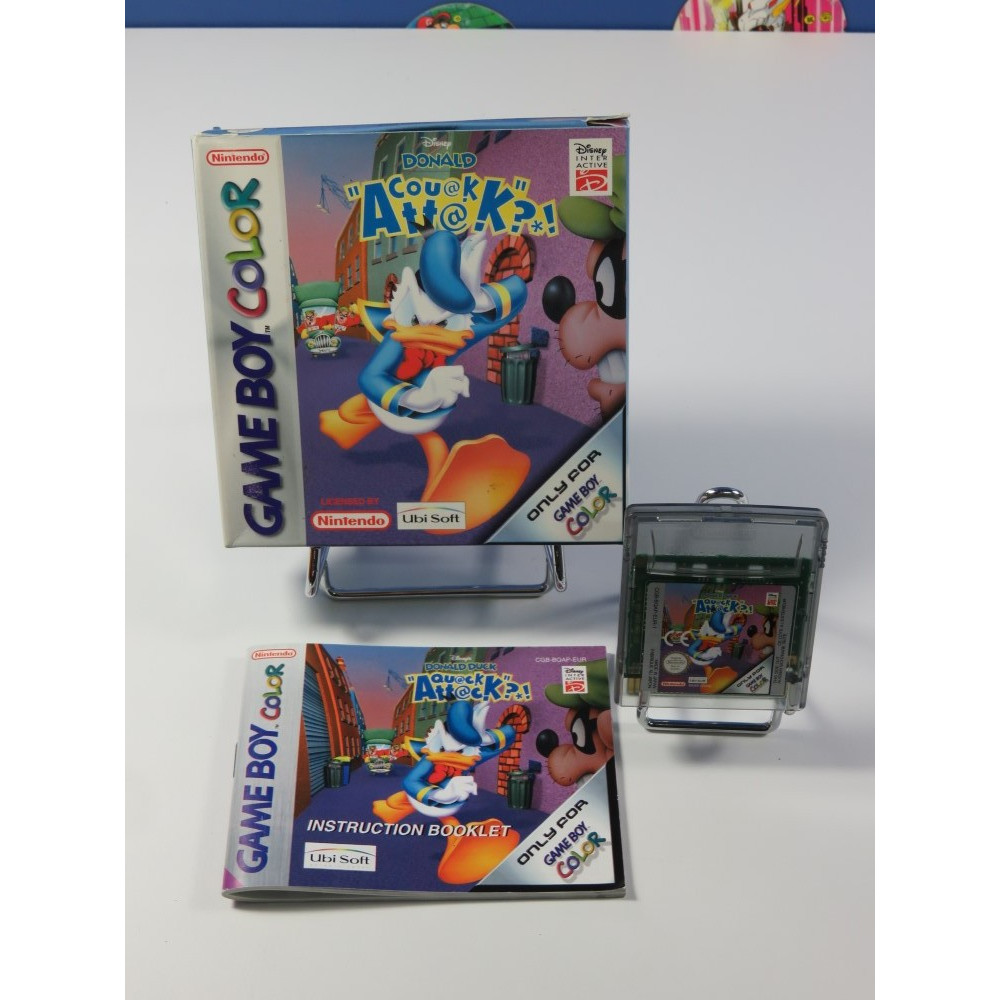 DONALD DUCK QUACK ATTACK! GAMEBOY COLOR (GBC) FRA (COMPLET - GOOD CONDITION)