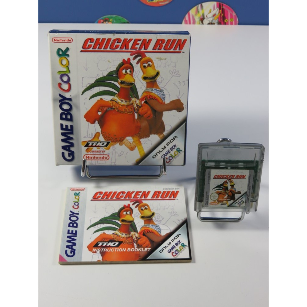 CHICKEN RUN GAMEBOY COLOR (GBC) EUR (COMPLET - VERY GOOD CONDITION OVERALL)