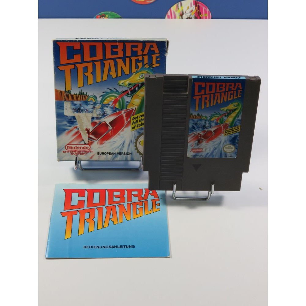 COBRA TRIANGLE NINTENDO (NES) PAL-B EUR (COMPLET - SMALL BOX)(FRG MANUAL - FRA CARTRIDGE)