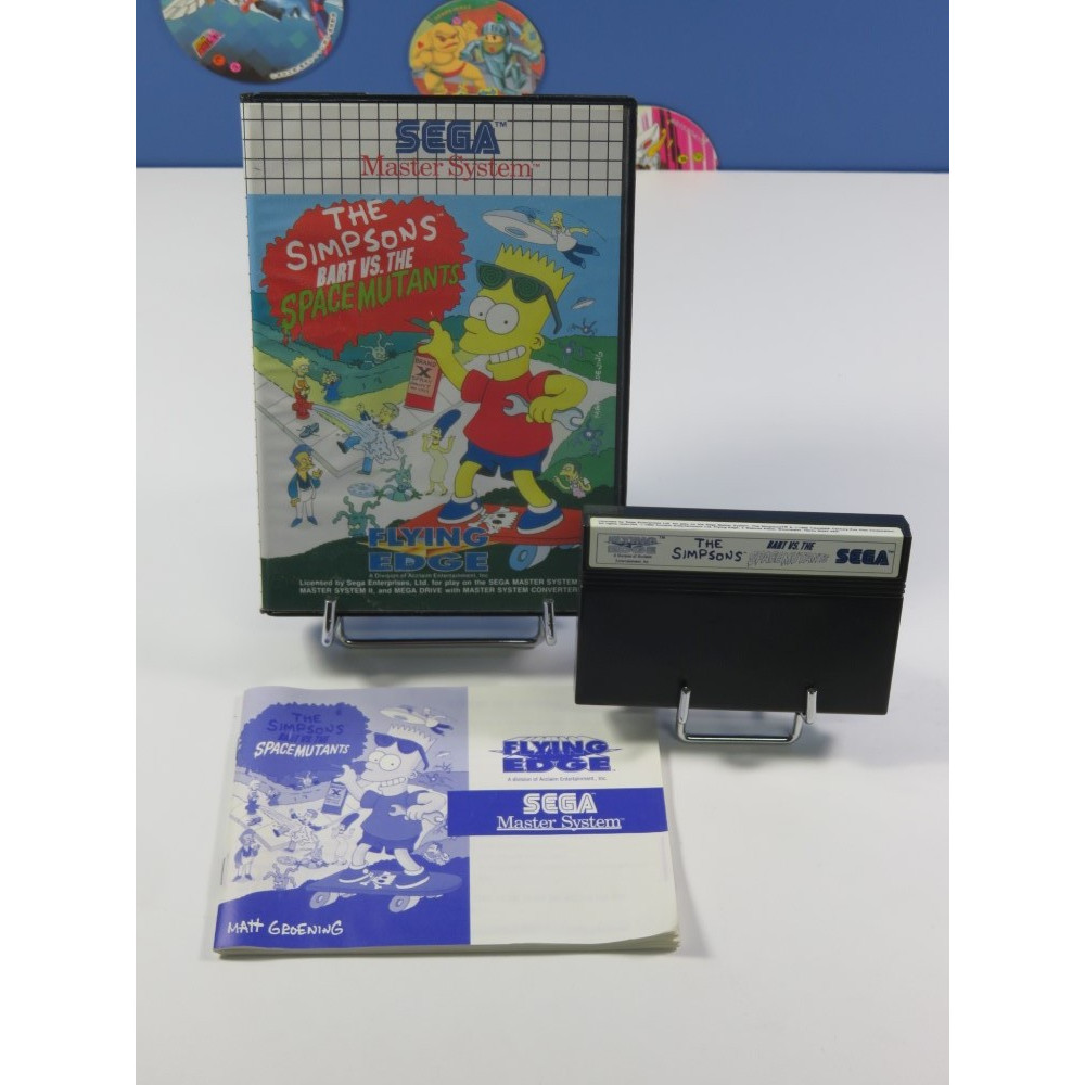 THE SIMPSONS BART VS. THE SPACE MUTANTS SEGA MASTER SYSTEM PAL-EURO (COMPLET - VERY GOOD CONDITION)
