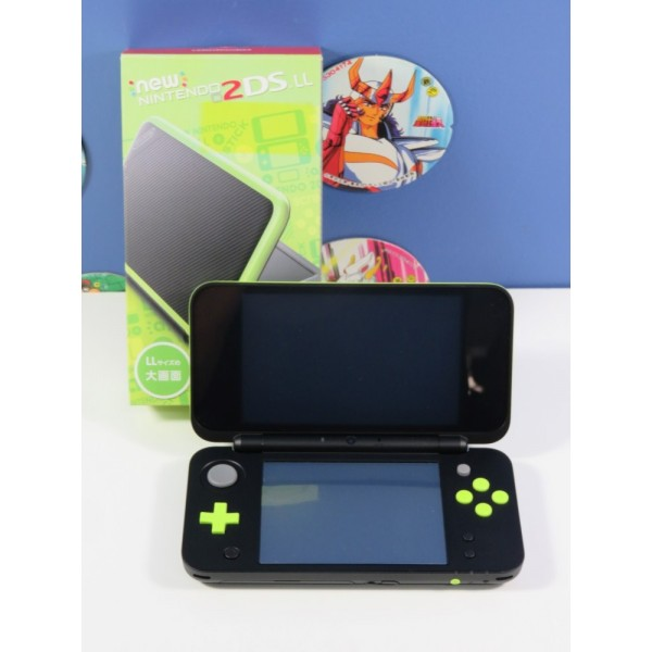 CONSOLE NEW NINTENDO 2DS LL BLACK X LIME 3DS NTSC-JPN (COMPLET - VERY GOOD CONDITION) (REGION LOCK - BOXED)