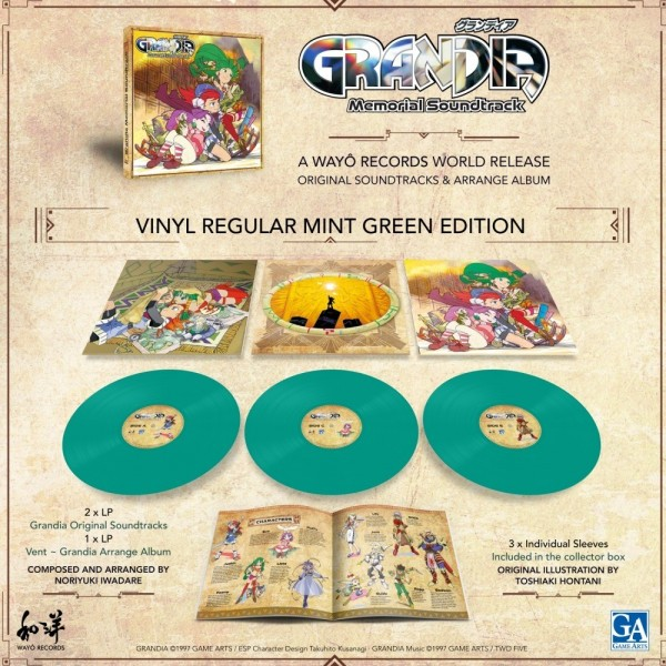 VINYLE GRANDIA MEMORIAL SOUNDTRACK 3LP WAYO RECORDS NEW