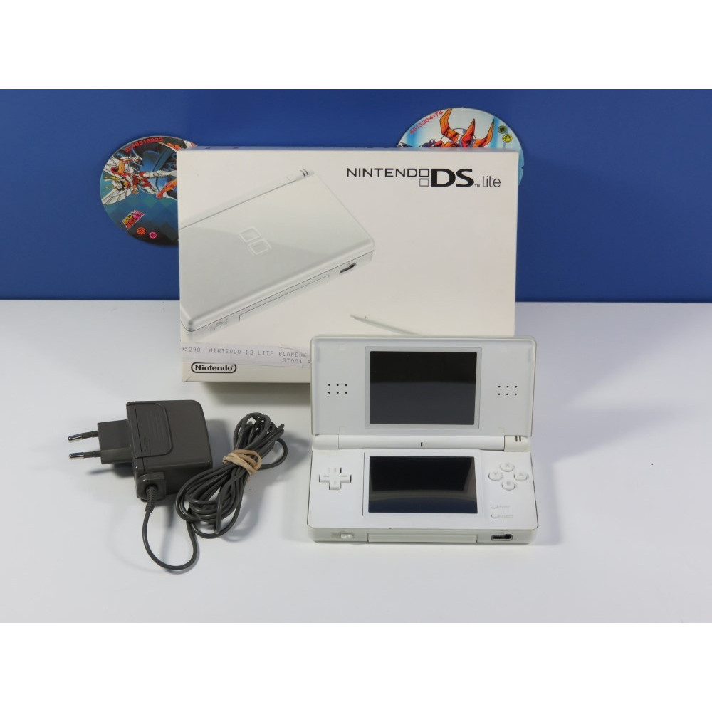 CONSOLE NINTENDO NDS LITE PURE WHITE EURO (COMPLET - GOOD CONDITION OVERALL)